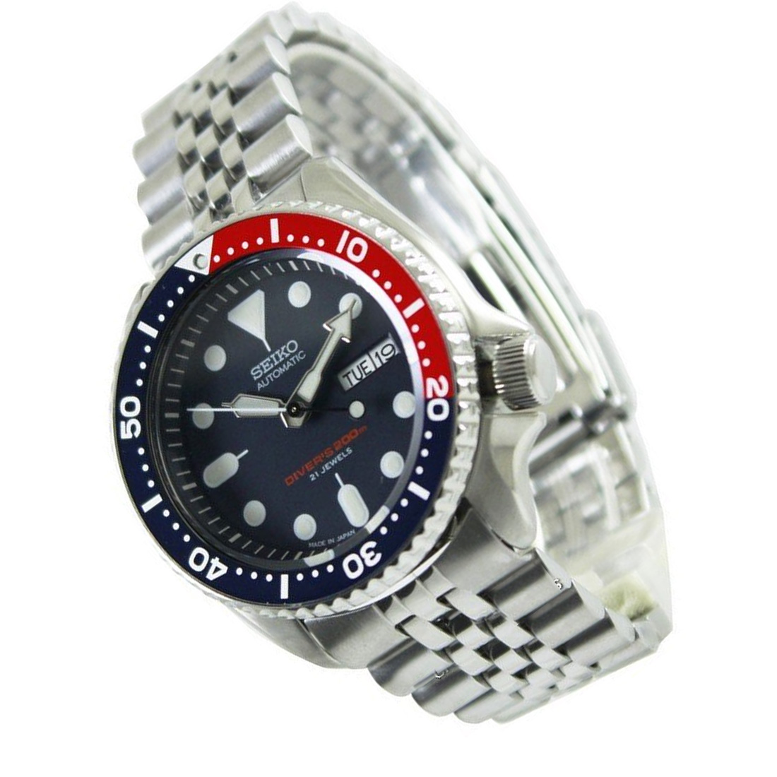 Seiko Diver Automatic Watch SKX009J2 Jubilee Band ...